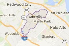 Atherton Map - San Francisco Bay Area Real Estate Catherine Hendricks
