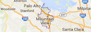 Moutain View Map - Real Estate Catherine Hendricks Bay Area