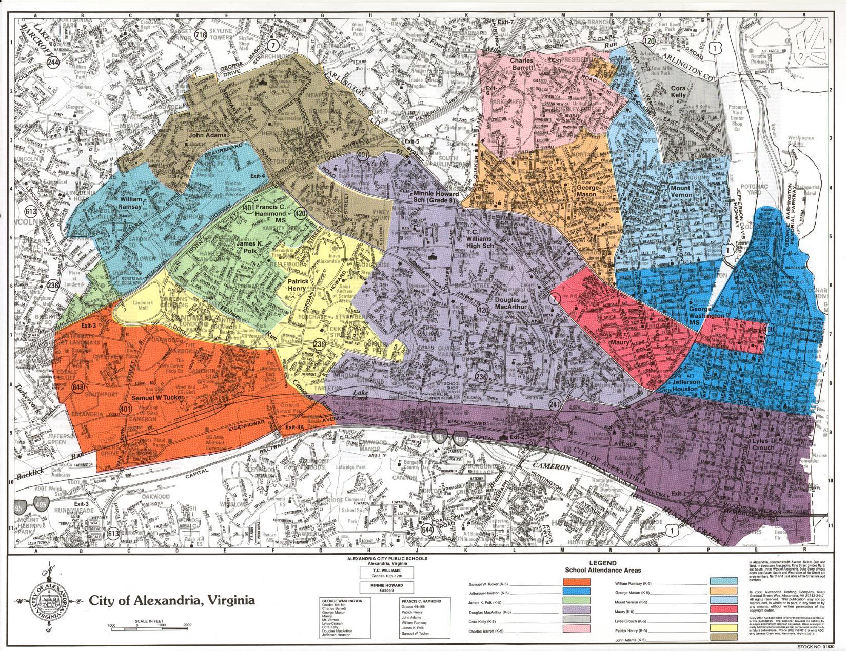 Local Schools Info Alexandria Virginia - Alexandria usa map