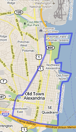 Map of Old Town Alexandria