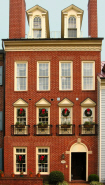 Old Town Alexandria Brick Home during the Holidays